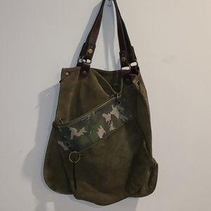 Fiorucci double suede large shoulder bag